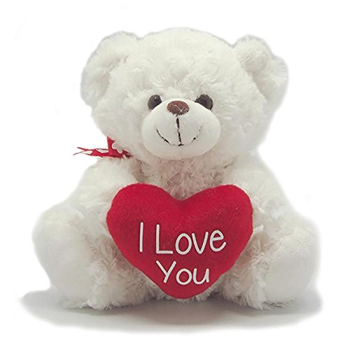 Used, I Love You White Teddy Bear for sale  Delivered anywhere in Ireland