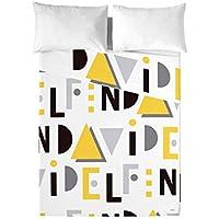 David Delfin Because Amarillo - Juego de sábanas, 270 x 160 cm