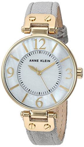 anne-klein-womens-ak-2738gmgy-gold-tone-and-grey-suede-leather-strap-watch