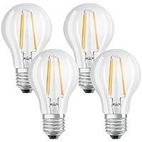 Osram Lampadine LED tutto vetro a filamento E27, =60W, luce calda, 4 Unità