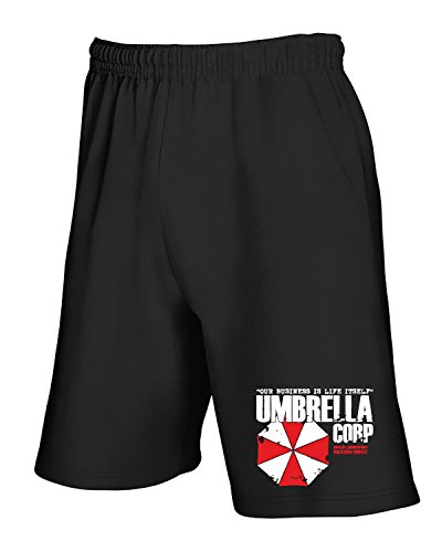 Cotton Island - Pantalone Tuta Corto TGAM0078 Umbrella Corporation Nero