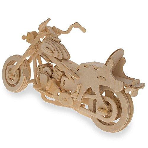 Puzzle 3D Harley Moto Puzzle en Madera Juguetes del kit de Construcción de Woodcraft Juguetes de los niños El Mejor Regalo