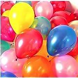 بالونات حفلات متنوعة الألوان، 500 قطعة، مثالية لحفلات أعياد الميلاد أو الأنشطة الترفيهية، بالونات ملونة سهلة النفخ