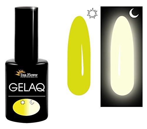 Sun Flower gelaq 052Glow in the Dark UV/LED Soak Off Gel Nagellack Made in EU