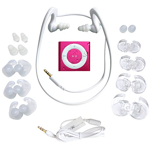 Underwater Audio- Wasserdichter iPod Shuffle (Pink), HydroActive Kopfhörer Bündel (Ipod Shuffle Pink)