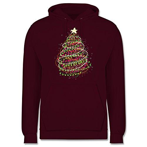 Weihnachten & Silvester - Abstrakter Weihnachtsbaum - Männer Premium Kapuzenpullover / Hoodie Burgundrot