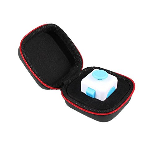 Rawdah Regalo per Fidget Cube Ansia Stress Relief fuoco Dadi Bag Box Carry Case Packet