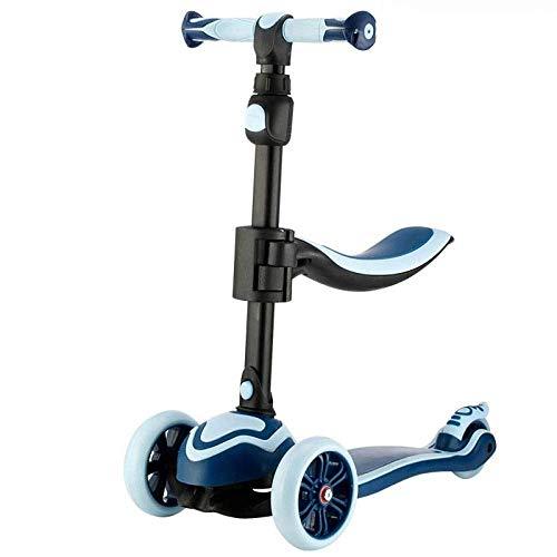 AIOJY Tretroller, Pro Wheel Fixed Bar Grad Push Street Scooter for Kinder, Kinder Stunt Scooter Indoor Outdoor, Modi Kinder mit Flash Pedalless Bicycle Walker im Alter von