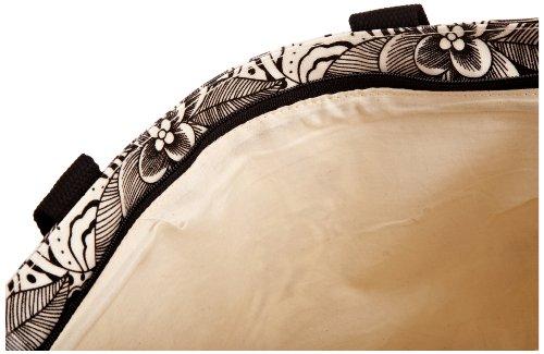 Re-uz Medium Oilcloth Tote Monochrome Abstract, Borsa tote donna Bianco (nero / bianco)