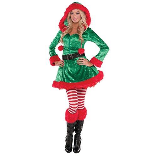 Elf Kostüm Damen - Weihnachtswichtel- Sassy Green Elf- Kostüm Damen Gr. S/ UK 8-10/ D 34-36