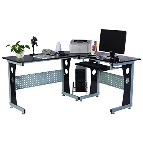 Computertisch-PC-Computerschreibtisch-Freizeittisch-Schreibtisch-Brotisch-Arbeitstisch-PC-Tisch-Eckschreibtisch-Winkelschreibtisch
