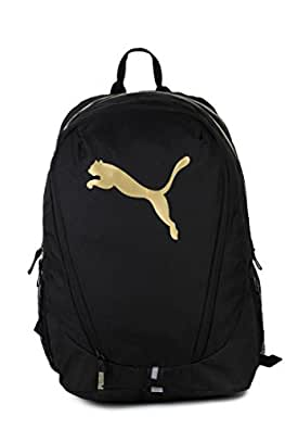 ee1e141e52 Puma Black and Gold Laptop Backpack (7592701)  Amazon.in  Bags ...