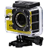 Yellow : Kolylong Mini H9 2inch Ultra HD 1080p 4K Sport 170° Wide WiFi Action Camera DV