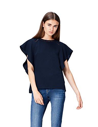 FIND Blusa Para Mujer, Azul (Navy), 48 (Talla del Fabricante: XXX-Large)