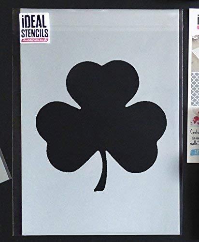 Kleeblatt Schablone   st Patricks Tag Dekor & Basteln Schablone   Farbe Wände Stoffe & Möbel - semi-transparent Schablone, 16X16CM