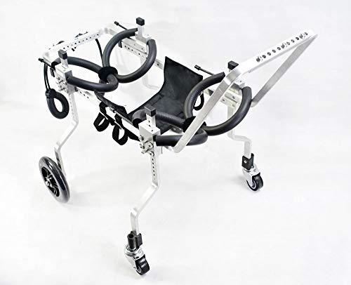 Silla de ruedas para perros, coche para perros, Adecuado para mascotas Pata trasera Práctica Rehabilitación Miembro Discapacitado Discapacitado Lesionado Asistencia para caminar , Perros pequeños gran