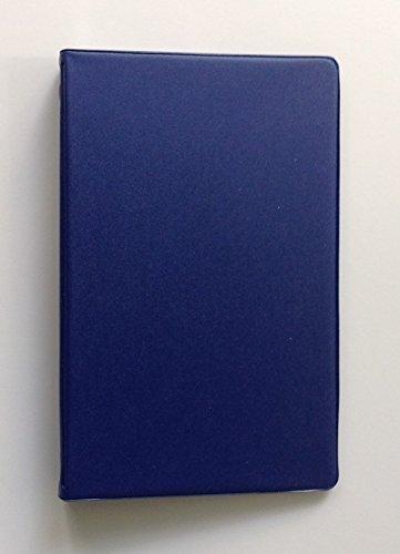 Mead attestiert klein 6-Ring-Blau Vinyl loseblattwerken Memo Notebook mit 6-3/4x 3-3/4-Zoll liniertes Papier (40Blatt) (Mead Notebook Binder)