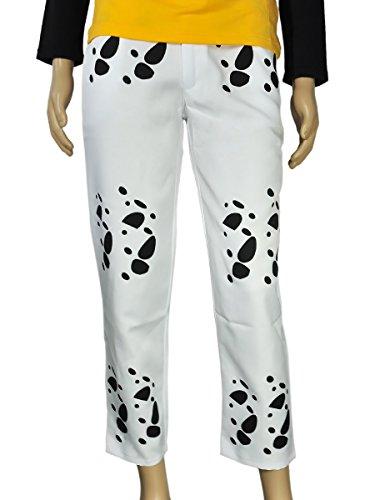 CoolChange One Piece Hose von Trafalgar Law, Weiß, Größe: M
