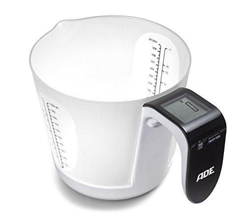 ADE Franca. Tipo: Báscula electrónica de cocina, Capacidad máxima de peso: 5 kg, Precisión: 1 g. Tipo de visualizador: LCD, Tamaño de la pantalla (HxV): 29 x 29 mm. Tipo de batería: CR2032. Ancho: 205 mm, Profundidad: 145 mm, Altura: 125 mm Exhibició...