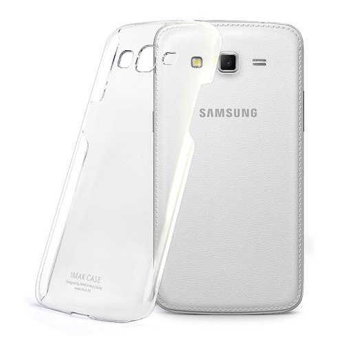 Imak Crystal Transparent Samsung Galaxy Grand 2 G7106 Flip Thin Hard Bumper Back Case Cover