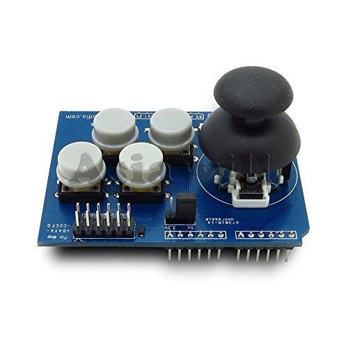 Asiawill 4pulsanti Joystick Shield per Arduino UNO MEGA