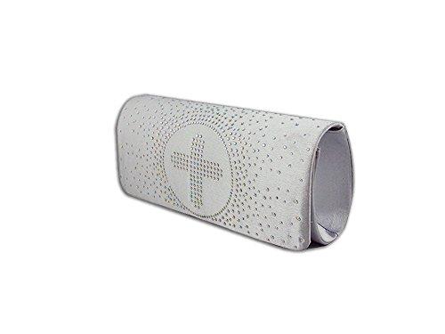 XPGG Damen Abendtasche Handtaschen -Partei-Beutel-Kreuz-Muster Kupplung gutes Geschenk 005 Silber