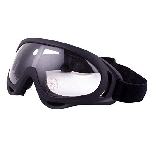 GoGou UV-Schutz Ski Schutzbrille Einstellbares Fahrrad Staubdichtes kratzfestes CS Armee taktisches winddichtes Snowmobile Outdoor Reit Gläser (Transparent) (Taktische Gläser)