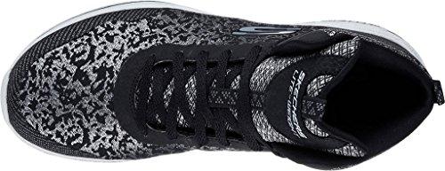 Skechers 12655 Damen Sneakers Schwarz(Schwarz/Silber)