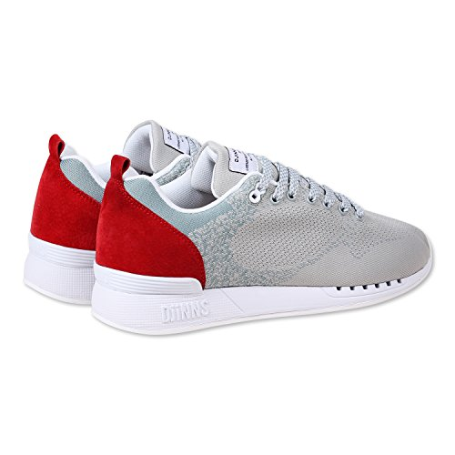 Djinns , Baskets mode pour homme gris Easy Run Yawn | Grey/Red Gris