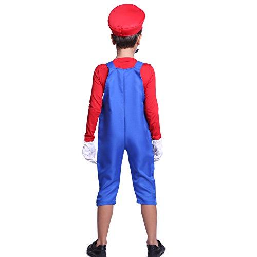 Imagen de cle de tous  disfraz de mario bros para niño cosplay dress fiesta carnaval halloween talla s 90 100cm talla m 110 120cm  s 90 100cm  alternativa
