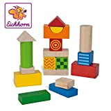 Eichhorn 100024253 - Baby Fühl- und Klangbausteine, 4 Bausteine mit Fühl- und 2 Bausteine mit Klangfunktion, 20-tlg, FSC 100% Zertifiziertes Buchenholz , Made in Germany