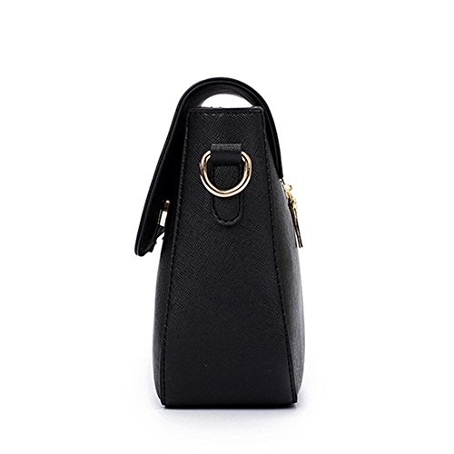 fanhappygo Fashion Retro Leder süß clutch Abendtaschen Damen Schulterbeutel Umhängetaschen schwarz