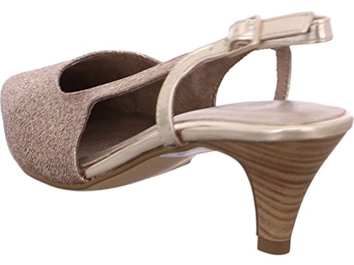 Tamaris Mary Jane Escarpins blanc 1-29400-26 117 cuir blanc Or