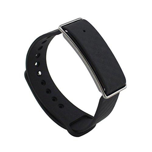 Preisvergleich Produktbild Sansee Ersatz Silica Gel Handschlaufe Armband für Huawei Ehrenband A1 Uhr (Sport Armband Silikon Armband) (schwarz)