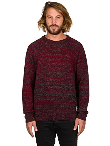 Herren Strickjacke Ezekiel Devon Knit Strickpullover Red