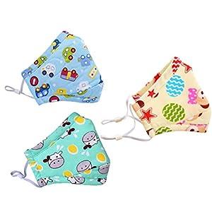 SUPVOX 3pcs Staubdichte Maske Waschbar Wiederverwendbare Anti Verschmutzung Warme Winddichte Baumwolle Gesichtsmaske für Erwachsene Kinder Pollen Allergie