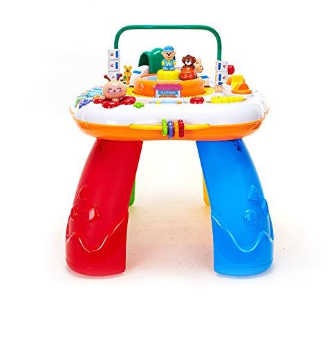 TTXLY Mesa de Juego de Rompecabezas bilingüe de educación temprana de múltiples Funciones para niños intelectuales Adecuada para 1-3 años (Color