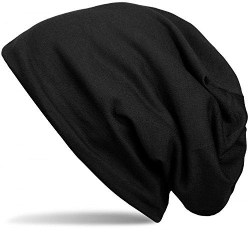 styleBREAKER klassische Unisex Beanie Mütze mit inliegendem Fleece Stoff, gefüttert 04024008, Farbe:Schwarz Fleece Beanie