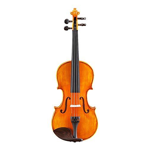 Miiliedy Lievito naturale fatto a mano a mano per bambini Principiante per adulti Esibizione competizione 1/2/3/4 Suono violino violino con scatola di violino Arco Rosin (Dimensione : 3/4)