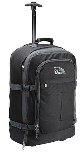 """Cabin Max, valigia/zaino """"Malmo"""", adatta come bagaglio a mano–44 l, multiuso Grigio Nero/grigio carry-on"""