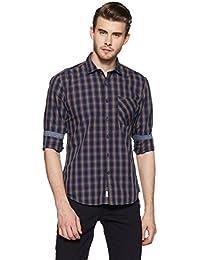 Indigo Nation Street Men's Checkered Slim Fit Casual Shirt