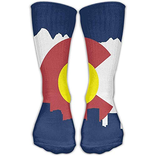 DFSDFSASDF Colorado Flag Adults Personalized Socks Sport Athletic Crew Socks for Men Women -