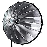 PowerPak 200Cm Deep Parabolic Umbrella Softbox with Elinchrom Speedring for Elinchrom and Compatible Lights - Silver…