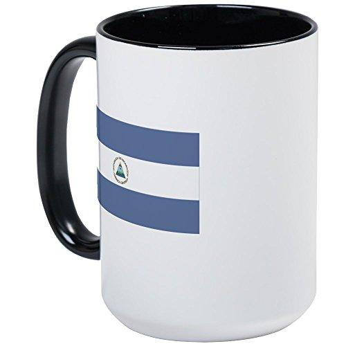 CafePress Nicaragua große Tasse/Kaffeetasse Large White/Black Inside -