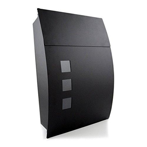 Nean Briefkasten Postkasten Designbriefkasten schwarz