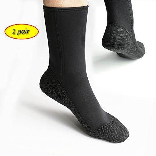 TZTED Tauchsocken,3Mm Neopren-Socken Schuhe Für Schwimmen, Schnorcheln, Segeln, Surfen,XL