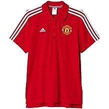 adidas Manchester United FC MUFC 3S Polo - Camiseta Polo Oficial para Hombre 9cb687c9760fb