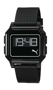 Puma - PU910951001 - Montre Mixte - Quartz Digital - Cadran Noir - Bracelet Silicone Noir