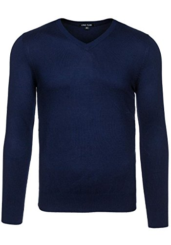 BOLF Herrenpullover Pulli Sweatshirt Sweatjacke Sweater Top MIX Dunkelblau_6005