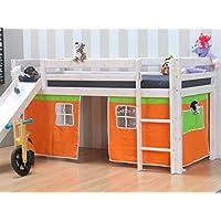 3tlg.Thuka Vorhang Set Höhle Spielhöhle Zubehör Hochbett Bett Kinderbett orange preisvergleich bei kinderzimmerdekopreise.eu
